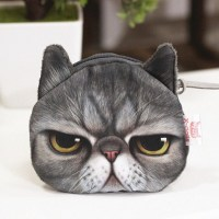 3D Cat Coin Purse