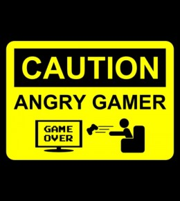 Angry Gamer Door or Wall Plaque