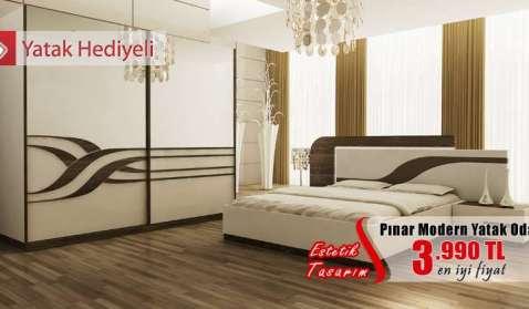 pinar modern yatak odasi Yatak Odaları Modelleri