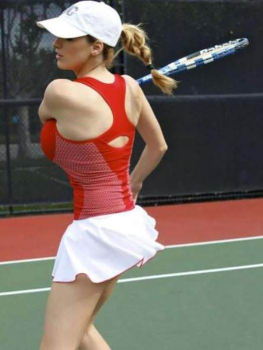 jordan carver playing tennis 1 tig ol bitties cool stuff the best 101  646 Pictures of Ladies with Major Big Boobage