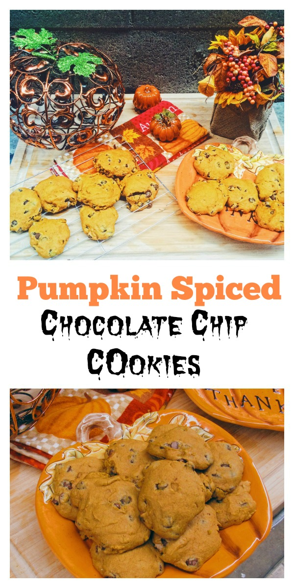 Pumpkin Spiced Chocolate Chip Cookies are the perfect blend of pumpkin ...