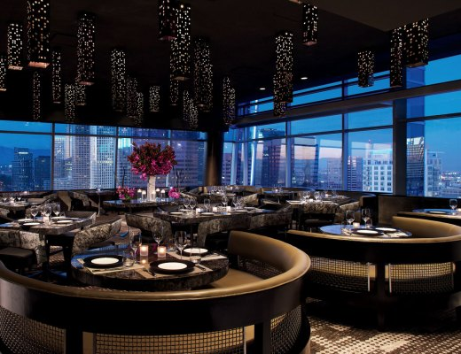 WP24 sits on the 24th floor of the Ritz Carlton with beautiful views of DTLA, and features Wolfgang Puck's award winning modern Asian cuisine.