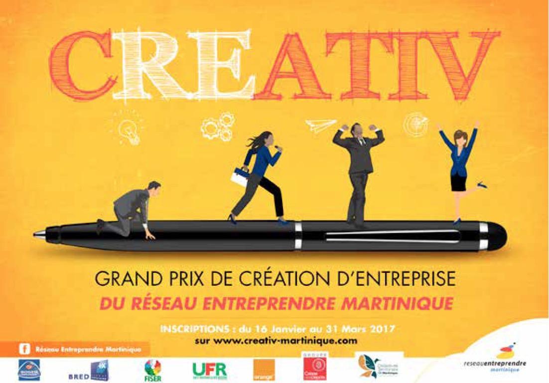Concours CREATIV Martinique 2017 : 10 finalistes