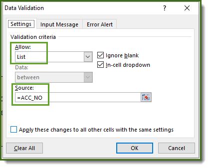data validation allow list
