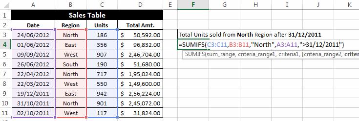 SumIFS-Function-Critera