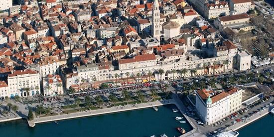 Le Palais de Dioclétien à Split en Croatie