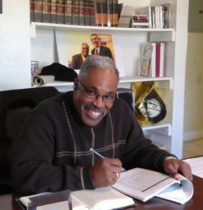 "The Rev. Reggie Longcrier is seen in his office at Exodus Homes in Hickory, N.C. preparing for his trip to Washington D.C. on February 28, 2012 to participate in a national forum for faith leaders to brainstorm strategies to end mass incarceration hosted by The Sentencing Project. To prepare for the forum, he has been studying national trends and current research on the subject such as a 2011 Pew Charitable Trust report called ""State of Recidivism, The Revolving Door of America's Prisons"", and ""The New Jim Crow - Mass Incarceration in the Age of Colorblindness"" by Michelle Alexander."