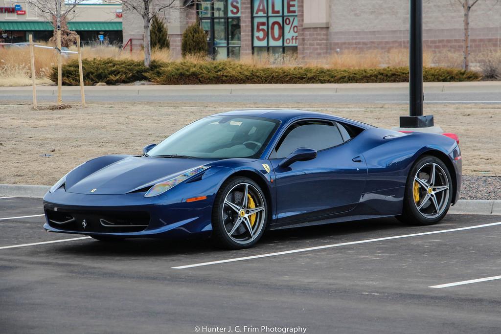 ferrari 458 TDF blue