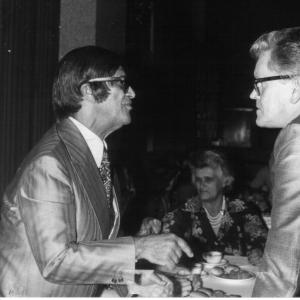 Chico Xavier e o livreiro Stig Roland Ibsen