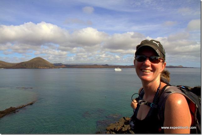Orlane à l'ile Bartolomé,  Galapagos, Equateur.