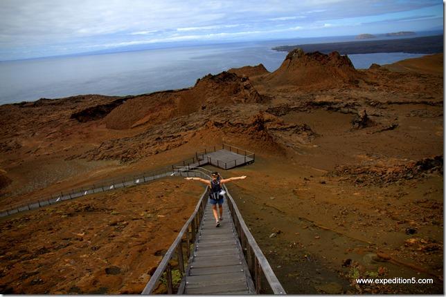 La descente est plus facile que la montée !  Galapagos, Equateur.