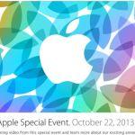 Résumé de la KeyNote Apple du 22 Octobre 2013