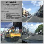No Parking Along Lacson and Araneta Steets