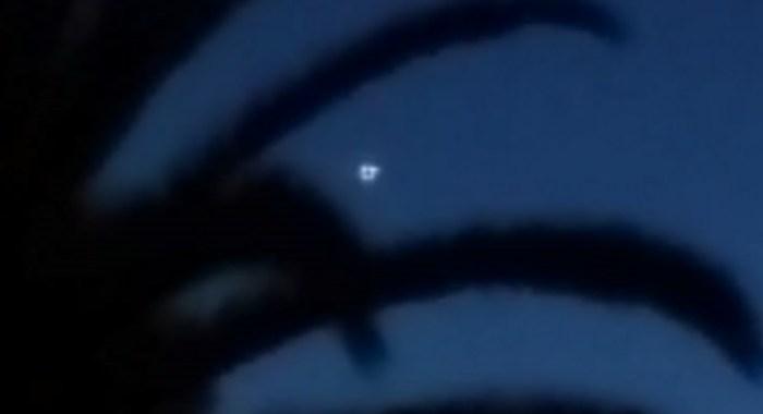 El objeto luminoso captado por el testigo.