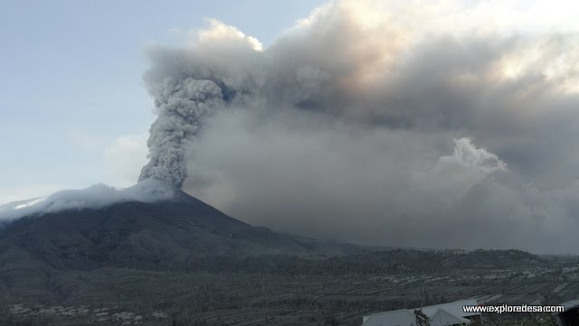 Mount Merapi photo on 2010, on this November just about 6 minutes eruption