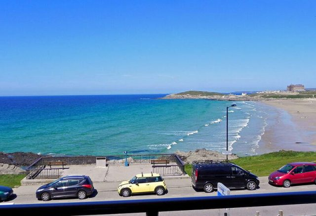 View of Fistral Beach from the Lounge