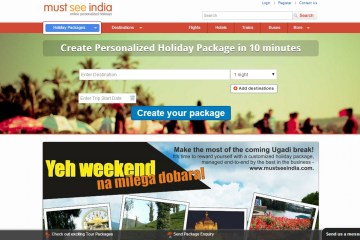 Must see India - Create Your Package tool