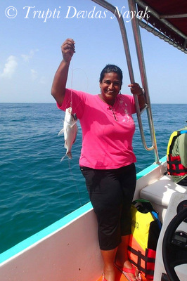 My first fish catch Isla Holbox Mexico