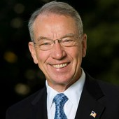 Senator Chuck Grassley via  https://en.wikipedia.org/wiki/Chuck_Grassley#/media/File:Sen_Chuck_Grassley_official.jpg [Public Domain]