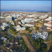 Aerial View of NASA Ames Research Center https://www.facebook.com/photo.php?fbid=10151655073516394&set=pb.338122981393.-2207520000.1394054211.&type=3&theater [Public Domain]