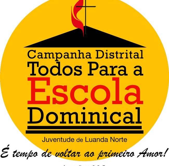 Igreja Metodista Unida promove campanha Todos para a Escola Dominical