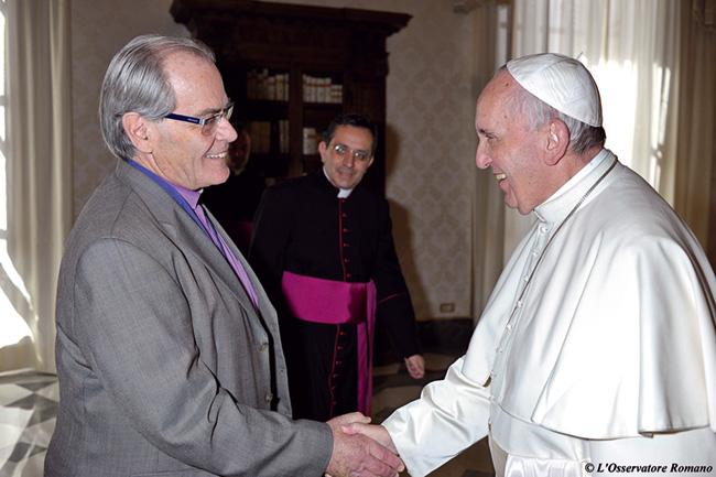 Presidente do Concílio Mundial participa de encontro com o Papa Francisco