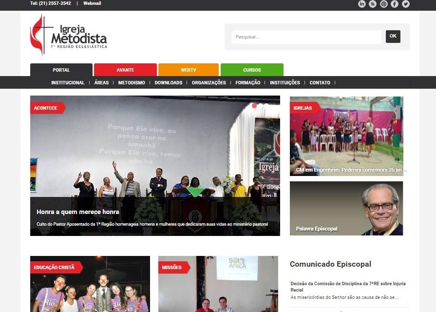 1ª Região da Igreja Metodista lança novo site