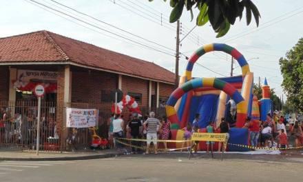 Igreja Metodista promove festa para crianças no interior de SP