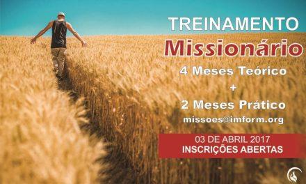 Escola de missões recebe inscrições para treinamento missionário 2017