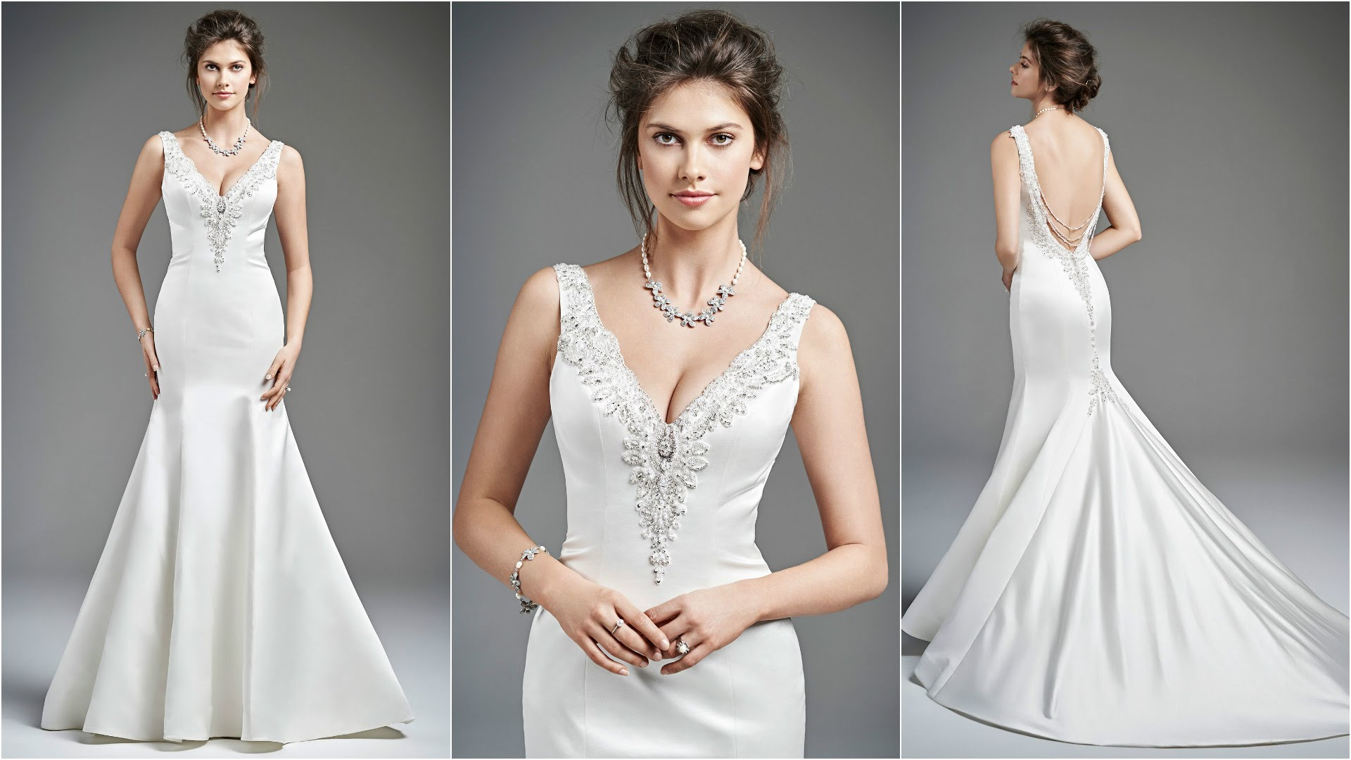 choose affordable vintage bridal wedding necklace jewelry sexy wedding dress
