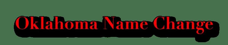Oklahoma Name Change