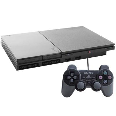 Console Sony PlayStation 2 Slim Preto - PS2 - Consoles Playstation 2 no Extra.com.br