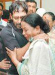 Nagesh son Anand Babu with Manorama