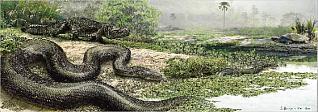 prehistoric giant snake