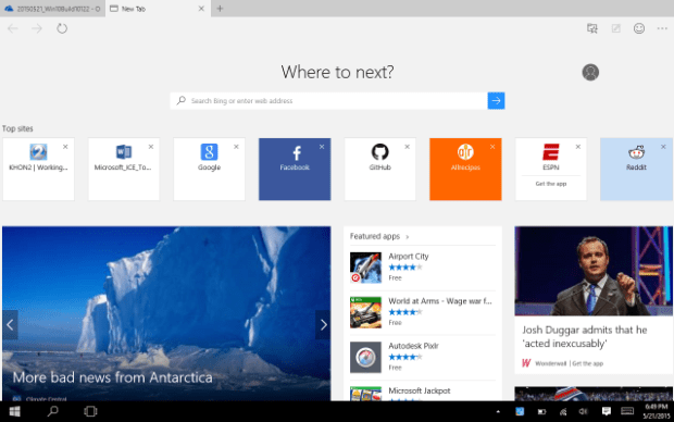 The new Windows 10 (Build 10122)