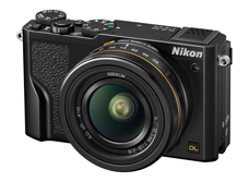 Nikon DL18-50: Nikon's DL family of compact cameras feature a classic rangefinder look -- although without an integrated viewfinder