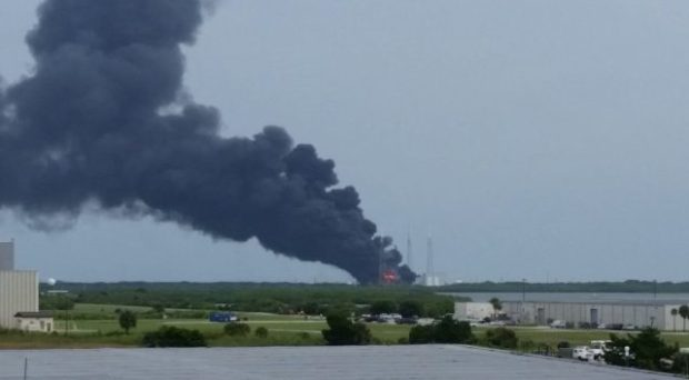spacex fire