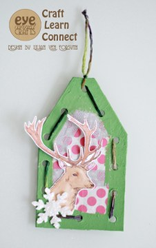 Make this easy holiday gift tag with your kids.