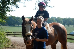MTR Instructor Megan Tritsch and MTR Participant Katie Parry (on horse)