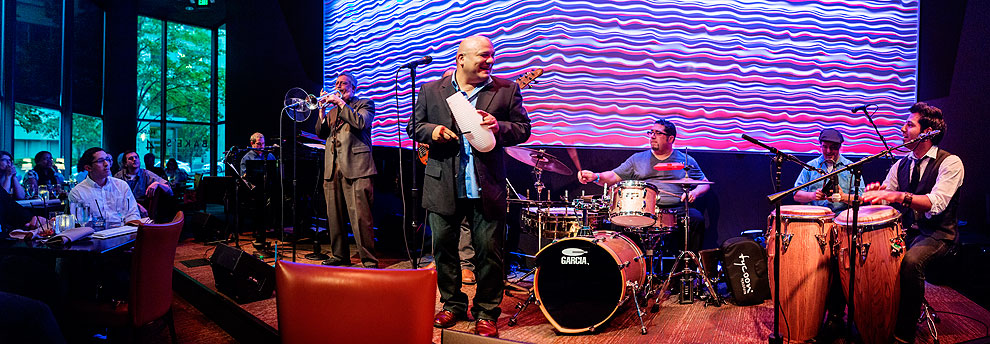 Carlos Cascante y su Tumbao opens the 2013 Bellevue Jazz festival at Bake's Place.