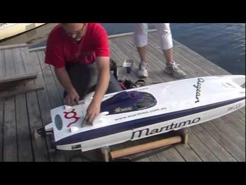 Class-1 RC boat test 1 Pal Virik Nilsen