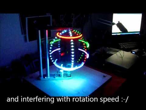 RGB LED GLOBE – POV – 40 x 200