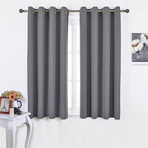 Nicetown Bedroom Blackout Curtains Panels Window Treatment Thermal Insulated Solid Grommet For Living Room