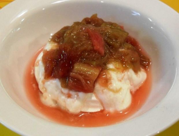 Rhubarb, in season, British, Greek Yogurt