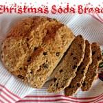 Christmas Soda Bread, Spelt flour, marzipan, stollen, panettone, mixed spice, orange zest, currants, dried cherries, dried fruit, vanilla, quick, easy, without buttermilk, milk and lemon juice
