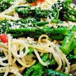 Tenderstem Brocolli with Chilli and Galic Spaghetti - Fab Food 4 All