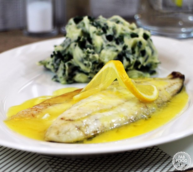 Grilled Seabass with Lemon Garlic Butter Sauce and Colcannon (30) lr