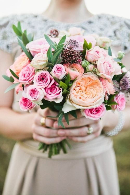 Medium Of Fall Wedding Bouquets