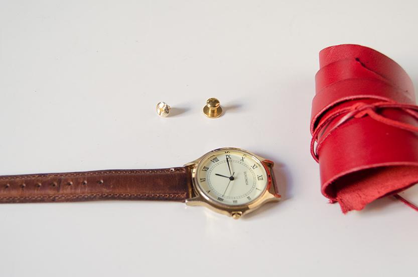 materiales-diy correas de reloj