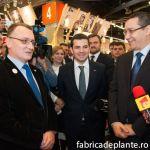 De la drepta la stanga: Victor Ponta, Daniel Constantin, Sorin Campeanu (rector USAMV Bucuresti), FLorin Stanica (prorector USAMV Bucuresti).